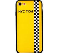 Для Защита от удара / С узором Кейс для Задняя крышка Кейс для Слова / выражения Твердый Акрил AppleiPhone 7 Plus / iPhone 7 / iPhone 6s