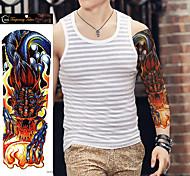 1Pcs New Styles Large Waterproof Fake Paste Leg Full Arm Paper Tattoo Sticker Sleeve On The Body Art For Men Women