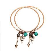 Bracelet Charmes pour Bracelets / Bracelets Rigides Alliage / Gemme Forme RondeGland / Crossover / Mode / Vintage / Bohemia style / Style