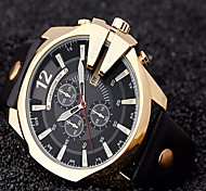 Hombre Reloj Deportivo / Reloj Militar / Reloj de Vestir / Reloj de Moda / Reloj de Pulsera Cuarzo Japonés / Piel BandaCosecha / Cool /