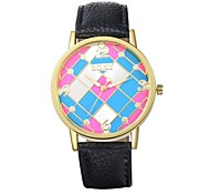 Unisex Dress Watch / Fashion Watch Quartz Water Resistant/Water Proof Leather Band Casual Black / Blue / Brown / Pink Brand