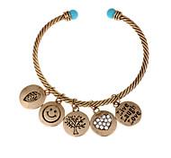 Bracelet Charmes pour Bracelets / Bracelets Rigides / Manchettes Bracelets Alliage / Gemme Forme RondeGland / Crossover / Mode / Vintage