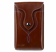 For Wallet Case Full Body Case Solid Color Soft PU Leather Universal Other under 6 Inch Screen