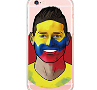 Football Star Face Pattern Cartoon PC Hard Case For Apple iPhone 6s Plus 6 Plus iPhone 6s 6 iPhone SE 5s 5