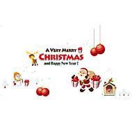 Животные / Рождество / люди Наклейки Простые наклейки Декоративные наклейки на стены,PVC материалВлажная чистка / Съемная / Положение