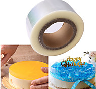 200M Plastic Mousse Cake Transparent Membrane Baking Surrounding Edge Tape