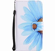 For Motorola G4 Play G4 Case Cover Sunflower Painted Lanyard PU Phone Case