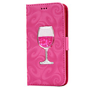 For Samsung Galaxy J7(2016) J5(2016) J3(2016) Case Cover Flowing Quicksand Liquid Wineglass Pattern PU leather Case for J310 J510 J710 J7 J5 J3