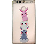 For HUAWEI P9 V8 Case Cover Three Little Rabbits Pattern Embossed Scrub TPU Material Phone Case