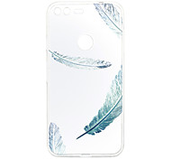 For Google Pixel XL Pixel Case Cover Feathers Pattern Back Cover Soft TPU
