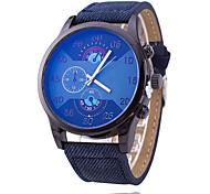 Hombre / Mujer / Pareja / Unisex Reloj Deportivo / Reloj de Moda / Reloj de Pulsera Cuarzo Punk / Esfera Grande Tejido BandaCosecha /