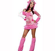 Festival/Celebração Trajes da Noite das Bruxas Rosa Estampado Vestido / Aquecedores de PernasDia Das Bruxas / Natal / Carnaval / Dia da