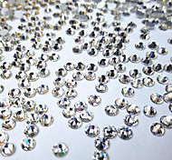 1440PC/Bag White Nail Art Jewelry Glass Nail Rhinestones Decorations Crystal Glitter (Assorted 6 Sizes)