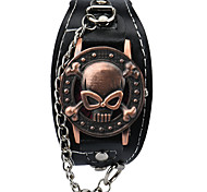 Vintage Men'S Watch Punk Style Skull Men'S Jewelery Bracelet Leather Watch Strap Quartz-Watch Wrist Watches Relogio Masculino
