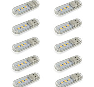 Mini LED USB Night Light Compact Size for Reading / Table Lamp Warm/Cool White 5V DC 3 5730SMD  (10 Pieces)