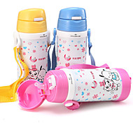 1PC Children'S Stainless Steel Vacuum Belt Straps Leakproof Water Kettle Sippy Cups Random Color