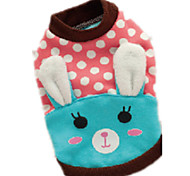 Dog Clothes/Jumpsuit Blue / Pink Dog Clothes Winter / Spring/Fall Animal Cute / Casual/Daily