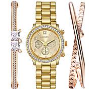 Watch Women Fashion Titanium Steel Bracelet Watch Set Ak Style Woman'S Jewelry Relogio Feminino Montres Femme Gift Idea 3pcs/set