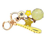 Porta-Chaves Hobbies de Lazer Porta-Chaves Circular / Quadrangular Metal Amarelo Para Meninos / Para Meninas