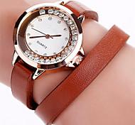 New Fashion Women Rhinestone Watch Casual Leather Bracelet Watches Quartz Watch Relogio Feminino Clock