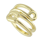 New Simple Gold Color Metal Band Rings for Women