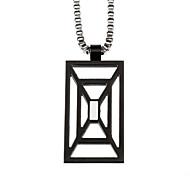 квадрат нержавеющей стали 316l людей способа полые кулон ожерелье ювелирных изделий