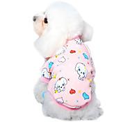 Cat Dog Shirt / T-Shirt Pajamas Dog Clothes Summer Spring/Fall Cartoon Cute Casual/Daily Yellow Pearl Pink Blue Pink Blue-Yellow