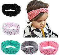 5 pcs/set Children Turban Headbands With Polka Dot Printed Child Hair Accessories