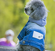 Dog Coat / Sweatshirt / Clothes/Jumpsuit Red / Orange / Blue Dog Clothes Winter / Spring/Fall Animal Cute / Casual/Daily /