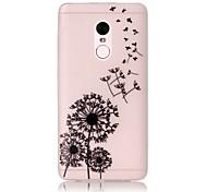 For Glow in the Dark / Translucent Case Back Cover Case Dandelion Soft TPU Xiaomi Redmi Note 4 Redmi Pro