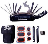 riparazione moto kit di utensili - 16 in 1 multifunzione strumenti meccanico di biciclette fix impostati borsa con leve di patch di