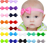 20 color/set Hair Bow Headbands Children Hair Accessories