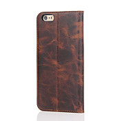 Fierre Shann Genuine Leather Wallet Flip Case With Card Slot for Iphone 7 7Plus 6s 6s Plus Premium Crazy Horse Pattern Gift Box