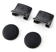 R / L Dual disparadores Enhancement antideslizante para el controlador de PS3 (Negro)