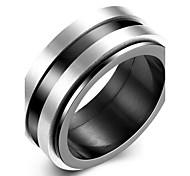 Кольцо Нержавеющая сталь Классика Мода Черный Бижутерия Для вечеринок Повседневные 1шт