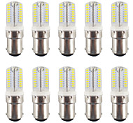 2.5W BA15D LED Bi-pin Lights T 64 SMD 3014 200-230 lm Warm White / Cool White Waterproof AC110-220 V 10 pcs
