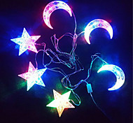 The Stars The Moon Light String Coloured Luminous 30 Lamp Holder 6 Hangs