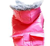 Perros Abrigos Rojo / Azul / Rosado / Gris Ropa para Perro Invierno / Primavera/Otoño Un Color Mantiene abrigado