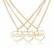 Necklace Non Stone Necklace / Pendants / Lockets Necklaces / Charms Jewelry Daily / Casual / SportsDangling Style / Heart / Euramerican /