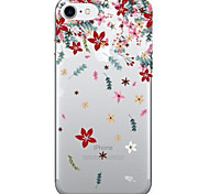 For Apple iPhone 7  6S Case Cover Flower Pattern Painted TPU Acrylic Material Soft Package Phone Case