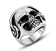 Муж. Кольцо Бижутерия Панк По заказу покупателя бижутерия Титановая сталь В форме черепа Сглаз Бижутерия Назначение Повседневные