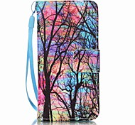 Color Tree Painting PU Phone Case for apple iTouch 5 6