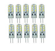 10 Pcs Con filo Others G4 24 led Sme3014 DC12 v 350 lm Warm White Cold White Double Pin Waterproof Lamp Other