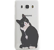For Samsung Galaxy J5 J3 (2016) Case Cover Black Cat Pattern High Permeability Painting TPU Material Phone Case