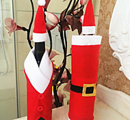 2 Stück Weihnachten Weinflasche Tasche Weinflasche Kleidung Weihnachten Ware