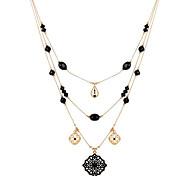 Modische Halsketten Halskette / Layered Ketten / Lange Halskette Schmuck Hochzeit / Party / Alltag / NormalDoppelschicht / Quaste /