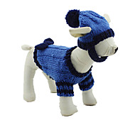 Dog Sweater / Bandanas & Hats Blue Dog Clothes Winter / Spring/Fall Solid Casual/Daily / Keep Warm