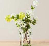 1 Branch Artificial Flowers 4 Heads Silk Hydrangea Decorative Flowers for Home Wedding Decoration
