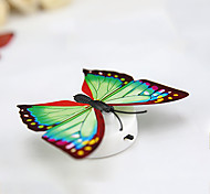 3PCS Creative Colorful  Paste Nightlight  Decorative Butterfly Lamp  Baby Bedlight  (Random Colour) With Battery