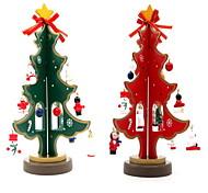 mini-árvore de Natal de madeira